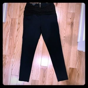 Bebe high waisted rouched top leggings.